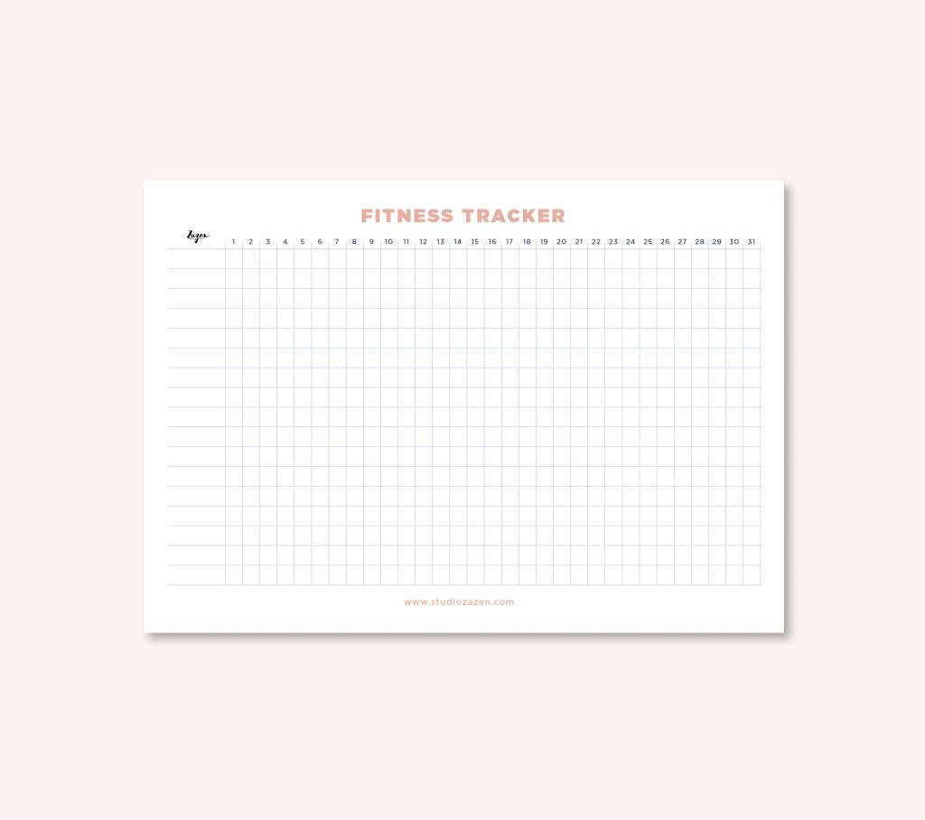 Fitness tracker descargable gratuito de studio zazen, papelería y merchandising ecológica y social de diseño. Estudio Zazen, zen, eco