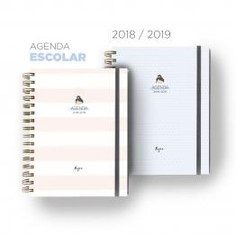 Agenda escolar Studio Zazen, con papel ecológico y tintas ecológica. Una agenda sostenible de diseño. páginas de 114g y encuadernado en cobre. Pasta dura o blanda y un montón de organizadores.