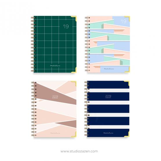 AGENDA ANUAL 2019_Zaha_margaret_Elsie_Julia_Studio_zazen_Pack_regalo
