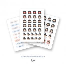 Stickers Agenda Escolar 2018/19